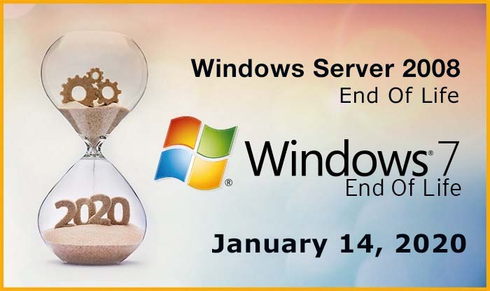 Windows 7 and Windows Server 2008 are at End-Of-Life